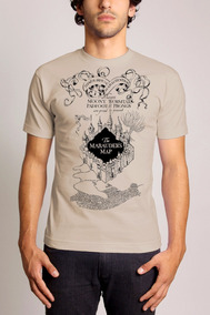 Camiseta Harry Potter Mapa Do Maroto