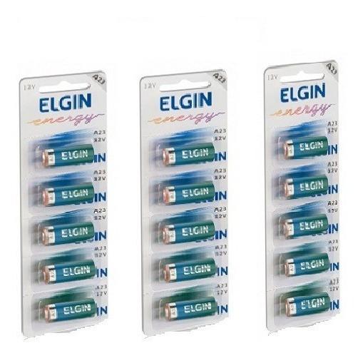 15 Unidas Baterias Pilha Alcalinas Elgin A23 12v Promoção