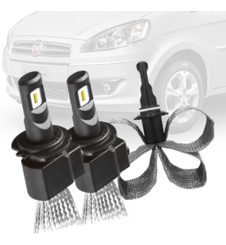 Imagem 1 de 6 de Par Lampada Led Flex Milha H1 Fiat Idea Novo 2011