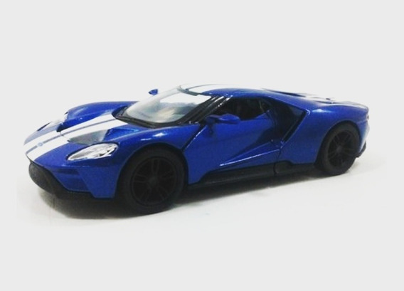 Ford Gt Mini Carro Metal Escala 1/38 Colecionador Expositor