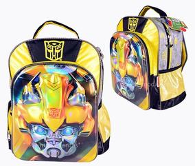 Mochila Transformers Bumblebee 3d Primaria Original Ruz