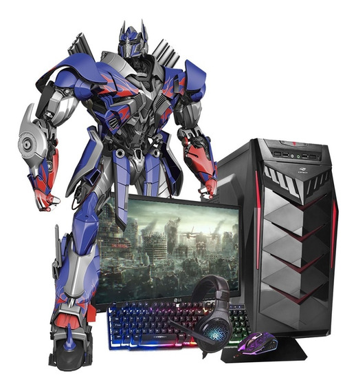 Pc Gamer 7480 8gb Hd1tb Monitor Lg19,5 Kit Gamer Dvdrw Novo!