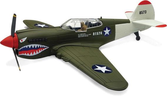 Kit Montar Avião De Combate P-40 Prata Candy Toys
