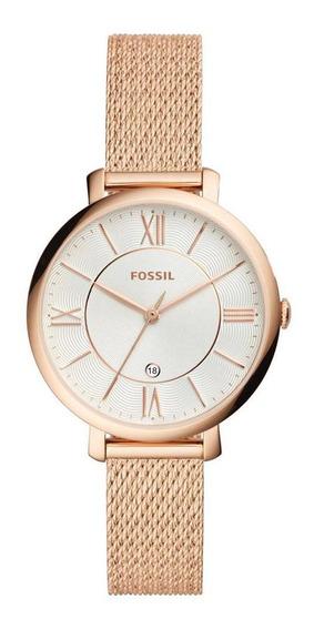 Relógio Fossil Feminino Ladies Jacqueline Rosé - Es4352/1dn