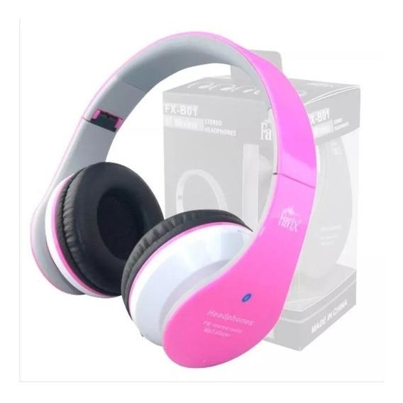 Fone Ouvido Sem Fio Favix B01 Bluetooth Fm/ Sd Card. Rosa