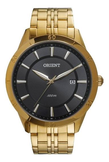 Relógio Orient Masculino Dourado Com Calendário Mgss1087