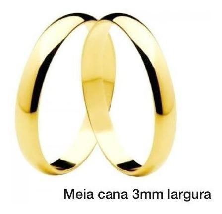 Alianca Ouro 3mm- Par Alianças Frete Gratis