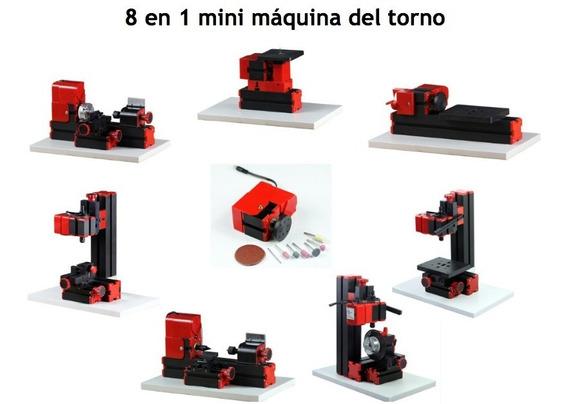Mini Torno 8 En 1, 20,000 Rpm 24w Madera, Metal Blando
