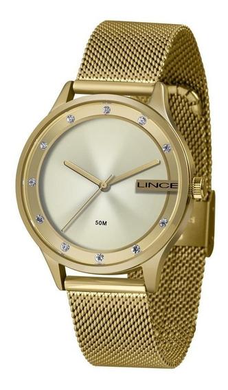 Relógio Feminino Lince Pulseira Aço 50m Ref. Lrg4623l-c1kx