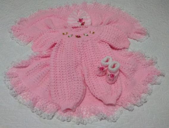 Kit Saida Maternidade Para Bebês Em Tricô