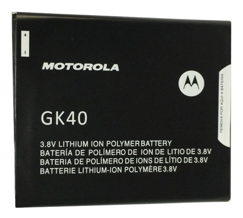 Imagen 1 de 8 de B.atería Motorola Moto G4 Play / G5 Gk40 Original 100%