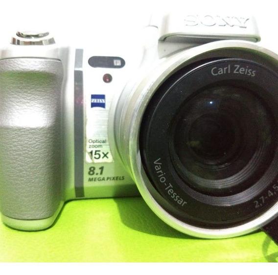 Câmera Semi-profissional Sony Dsc-h7 Prata Super Conservada.