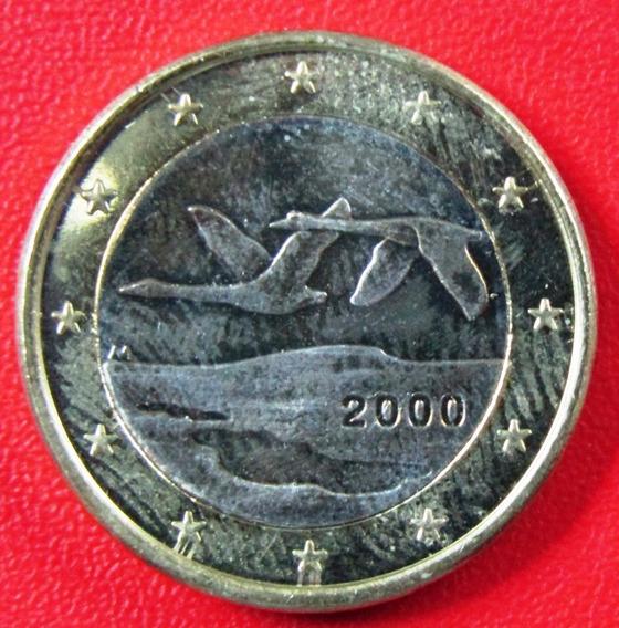 Finlandia Moneda Bimetalica 1 Euro 2000 Unc Km #104