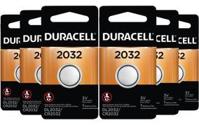 Kit Bateria Duracell De Lítio Metálico Cr2032 C/ 6 Unidades