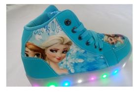 Bota Luz Led Frozen Bebê Infantil Promoção Sapato Feminino