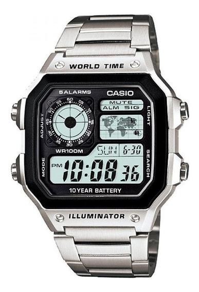Relogio Casio Ae 1200whd 1av Horario Mundial 5 Alarmes