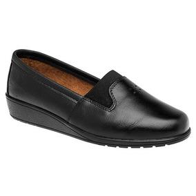 Zapatos Mocasines Casual Dama Negro Florenza Piel Udt 06287