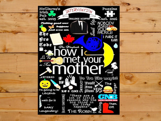 Poster Quadro Cartaz Moldura How I Met Your Mother 30x42 A3