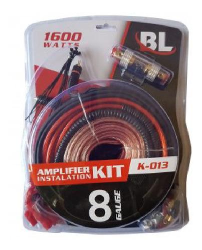 Kit De Cables K-013 8ga P/potencias 1600w