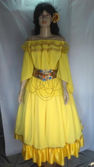 Roupa Cigana Amarelo/dourado