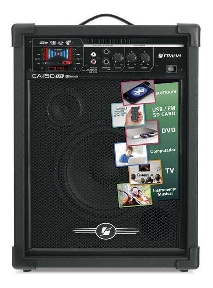 Caixa De Som Amplificada Ca150 Bluetooth Usb Fm Sd Auxiliar