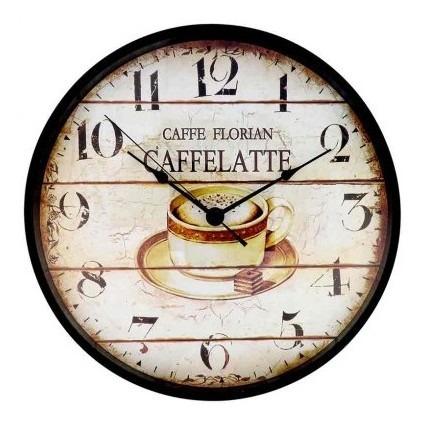 Reloj De Pared Free Home 31 Cm Café Latte Reloj De P Tk276