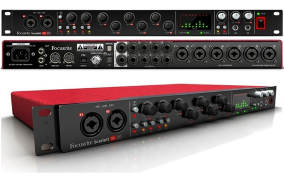 Interface De Áudio Focusrite Scarlett 18i20 Nova Fotos Reais