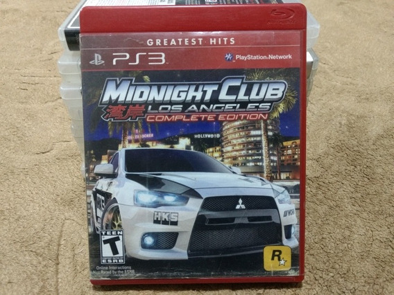 Jogo Ps3 Midnight Club Los Angeles Complete Edition
