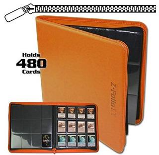 Bcw Z-folio Lx Zipper Portafolio Orange 12 Pocket Playset Al