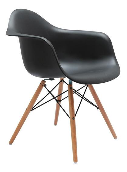 Cadeira Com Braço Eames Preta