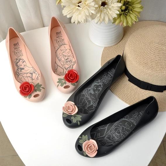 Zapatos Flats Mujer Bella Y La Bestia Melissa 22.5 A 25 Cm