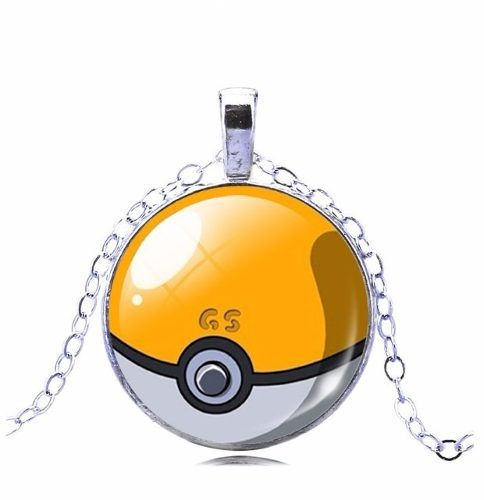 Colar Gargantilha Pokebola Pokemon Folheado A Prata