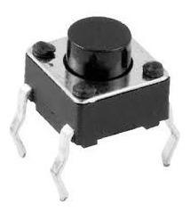 25x Micro-chave Tátil P4 Normalmente Aberta 4 Pinos