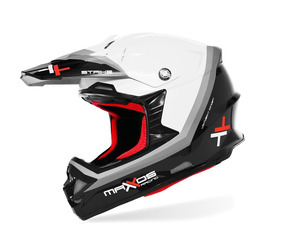 Capacete Mattos Racing Mx Pro Strike Cor Branco - 58