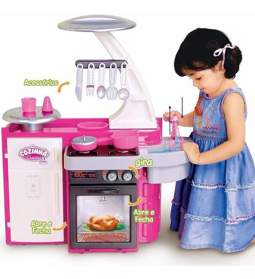 Cozinha Infantil Classic Kit C/ Fogão Pia Geladeira Cotiplás