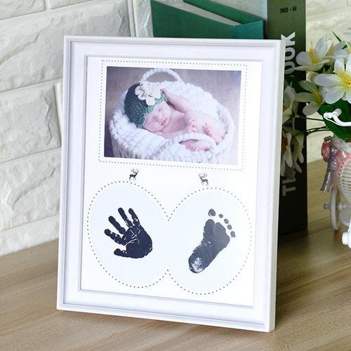 Porta Retratos Para Bebe Con Almohadilla Para Huella