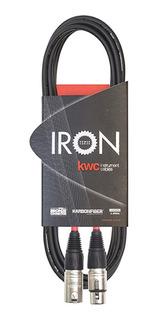 Cable Microfono Kwc Iron 242 Canon/canon Standard 6 Mts