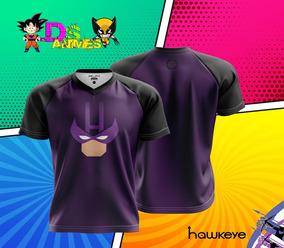Camisa/camiseta Gavião Arqueiro Marvel Raglan Dry Malha Fria
