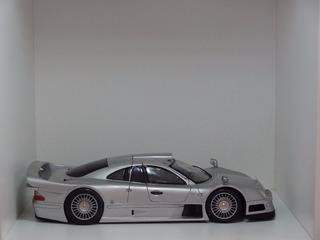 Miniatura Mercedes-benz Clk Gtr Prata 1:18