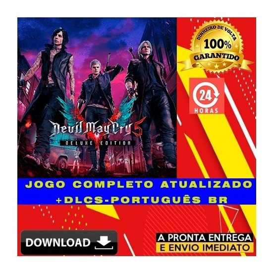 Devil May Cry 5 Deluxe Edition + 30 Dlcs + Brinde Pc Digital