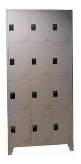 Lockers Metálico De Doce Puertas Con Aldaba
