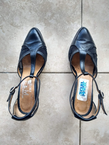 Zapatos Baile Sandalias Para Mujer Usados Negro