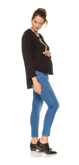 Camisa Lactancia Embarazo Amamantar Negra - Venga Madre
