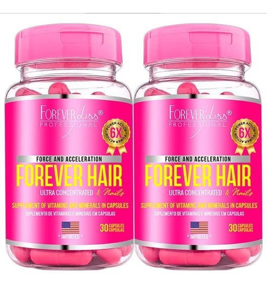 2 Forever Liss Forever Hair Crescimento Capilar 30 Cápsulas
