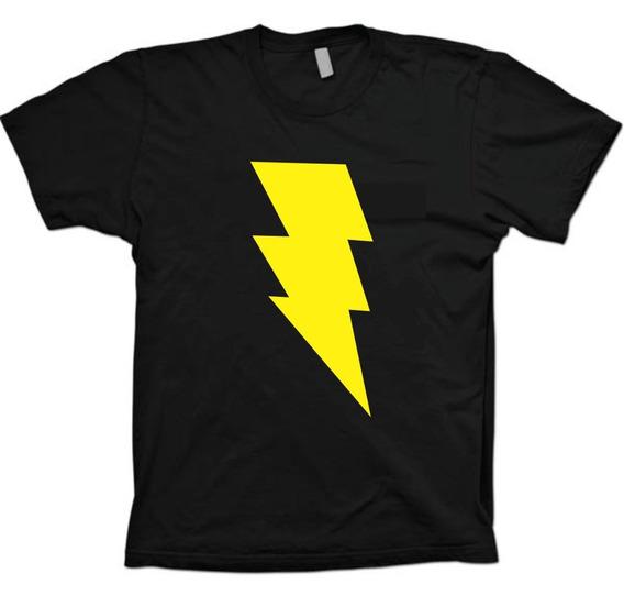 Camisetas Super Heróis - Dc Comics Shazam - 100% Algodão!!