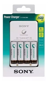 Carregador De Pilhas Sony Com 4 Pilhas Aa 2500mah Original