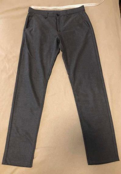 Pantalón De Vestir Zara Man T 31 Usa Gris Topo Comodín!!!