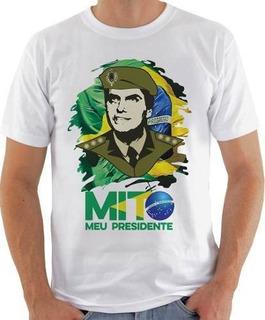 Camiseta Camisa Unissex Bolsonaro Mito-410