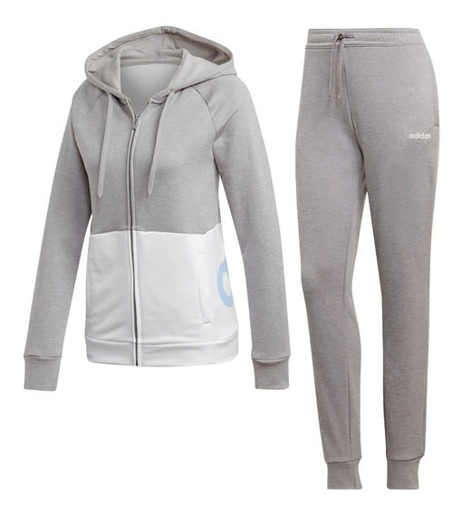 Conjunto adidas Linear French Terry Hoodie De Mujer