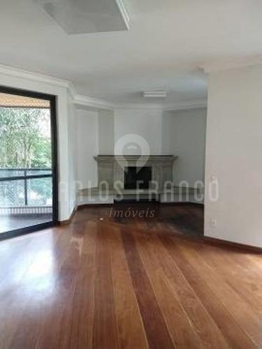 Imagem 1 de 14 de Belíssimo Apartamento De Alto Padrão - 280m² 4 Dorm E 4 Vagas. - Cf65296